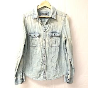 Express small Chambray button down shirt